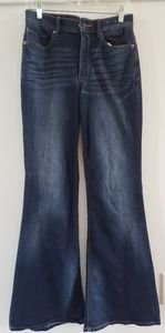 Express Bell flare high rise jeans  NWOT